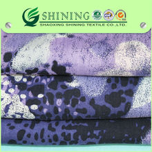 ELEGANCE viscose printed elastane woven fabric with high quality for women garments