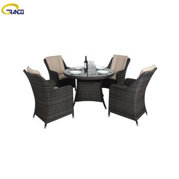 High quality wicker coffee table and chairs sets