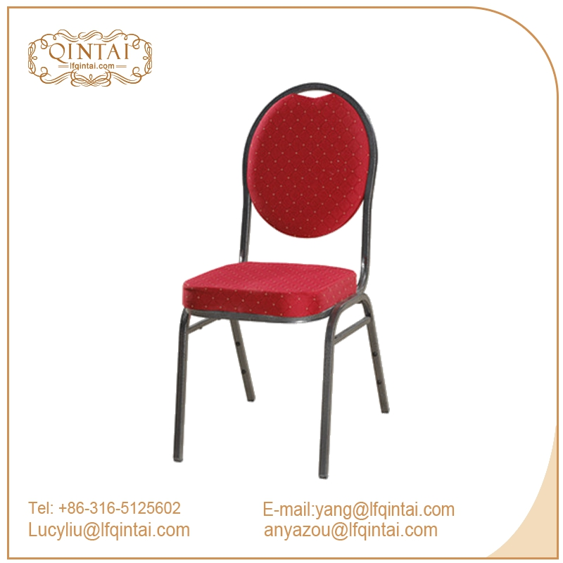 Classic Stacking cheap red metal aluminium hotel price steel dining banquet chair