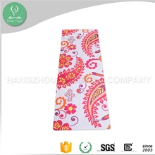 2016 new trending printed flower popular 100% Eco Natural Rubber Yoga Mat ST07