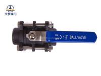 Butt welded carbon steel 3 pieces full bore ball valves