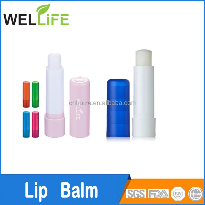 ningbo huize factory personalization SPF15 Sunscreen moisturizer lip balm stick container