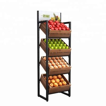 Cost-effective functional  gondola supermarket vegetable and fruit display shelves
