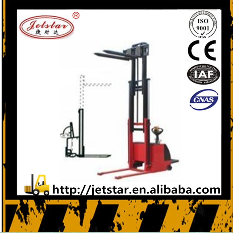 3 stage 1.2 ton 6m lifting height walking electric forklift stacker