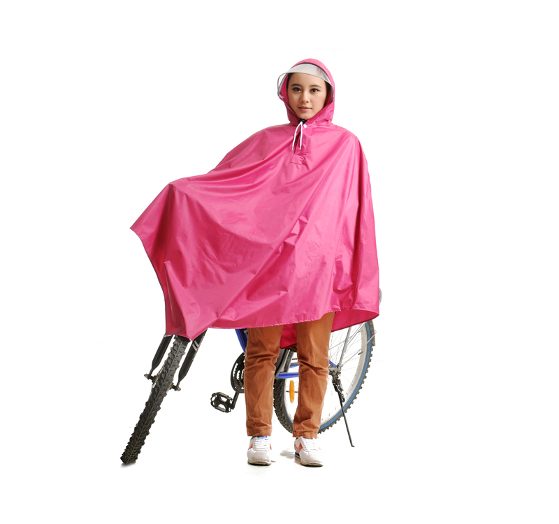 2014 New Design Fashion big waterproof brim bicycle poncho raincoat