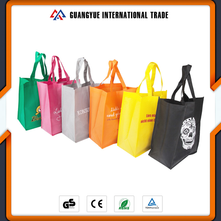 Guangyue China Cheap Goods Custom Design Colorful PP Non Woven Gift Bag With Personal Logo
