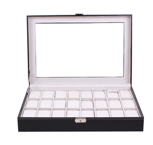Large capacity watch box 24 watches box 24 slot multiple watch case