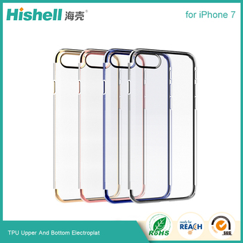 factory price soft TPU electroplate case for iPhone 7