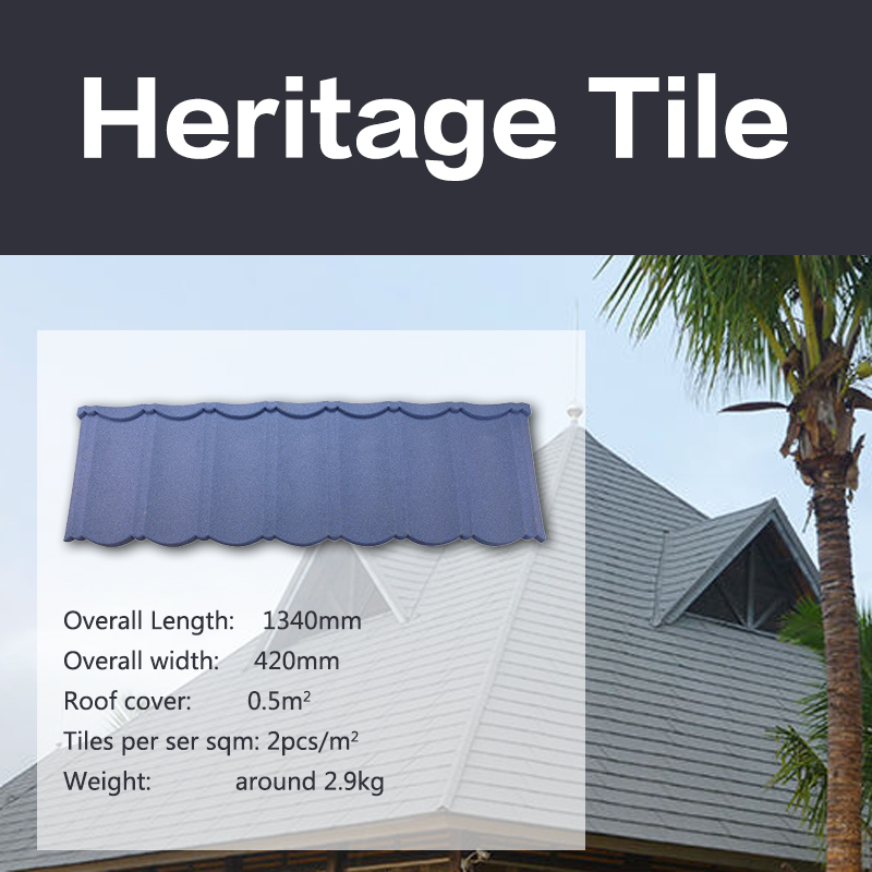 Decramastic Coral stone coated chip roof tiles