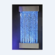 wall hanging mounted stainless steel water bubble wall panel , led waterfall feature room divider