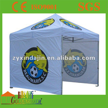 Customer printing aluminium frame flea market quick folding gazebo tent with polyester canopy for sale