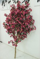 Wholesale 6foot pink artificial cherry blossom branch for wedding table centre piece decoration plastic cherry flower branches