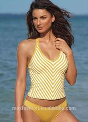 fashion polyester/spandex fabrication tank swimwear,bikini