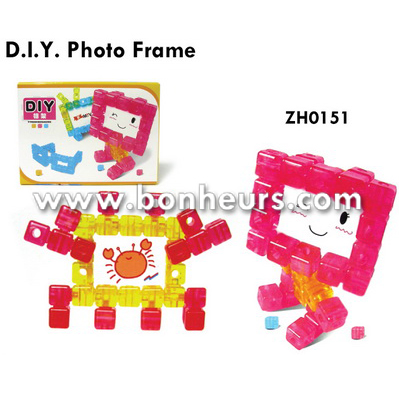 New Novelty Toy Decoration Cute Building Block Diy Photo Frame