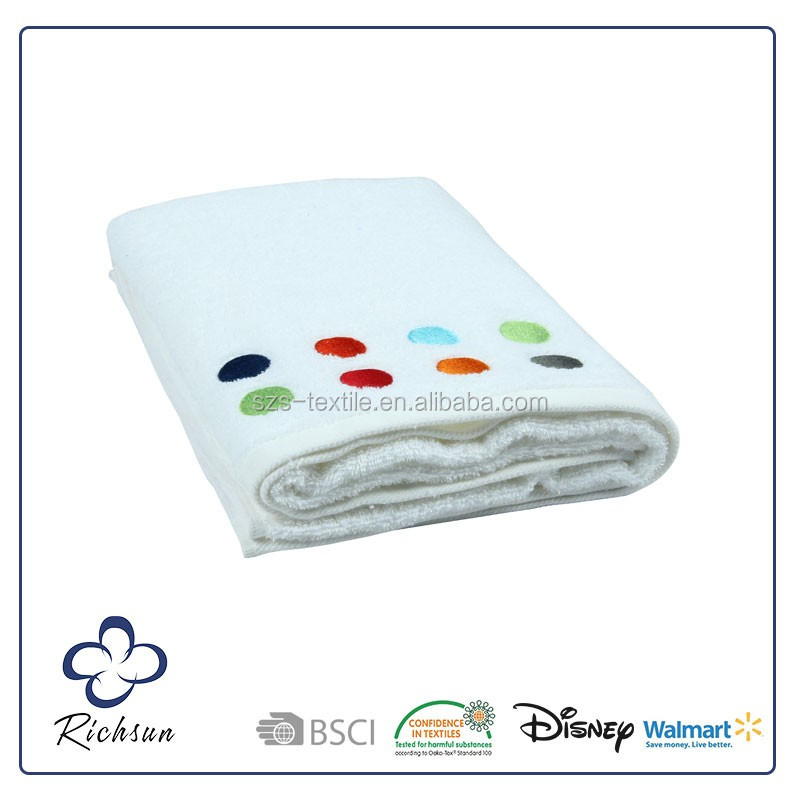 high quality large thick bath towel hand embroidery designs