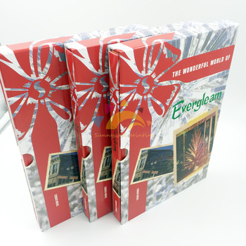 Hardback Christmas Book with Slipcase, Christmas Hardbound Book with Silver Edge