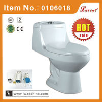 Hot sale floor mounted siphonic one piece toilet bowl wc