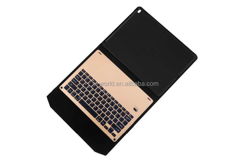 Business easy carry stand function premium bluetooth keyboard leather case for iPad pro 9.7 inch