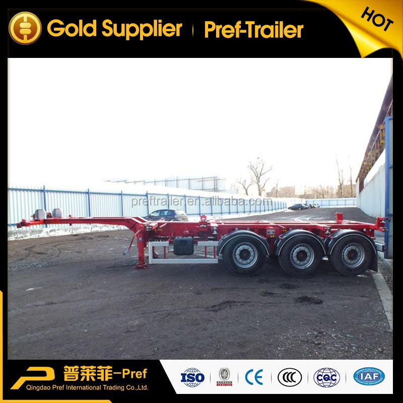 Factory Manufacture 40 Feet Skeleton Semi Trailer Tri-Axle Container Chassis for Sale