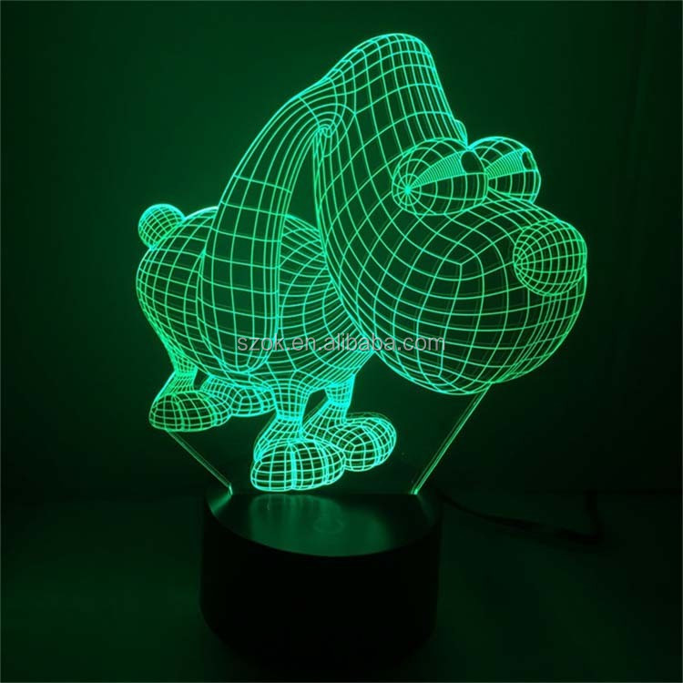 Home Decor Ball shape Acrylic LED Night Light 3D Lamp