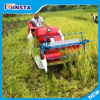 Harvest Machine For Paddy Farm Agricultry Rice Machine Mini Combine Harvester