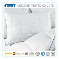 Hypoallergenic Firm Density White Goose Feather and Down Pillow