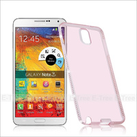 Luxury Hot Sale TPU Flexible Shining Diamond Lady Phone Case Cover For Samsung Galaxy Note3