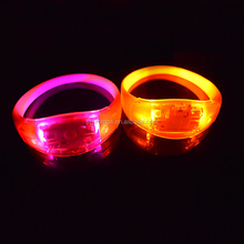 Wholesale Cheap Promotional Party Gift Flashing Light Sound Motion Activated Sensor LED Silicone Wristbands for Party Event
