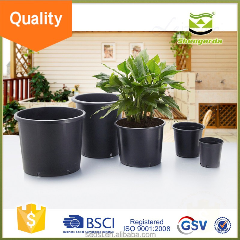 china supplier cheapest 1 2 3 5 7 10 15 20 25gallon plastic flower pots,black nursery pot