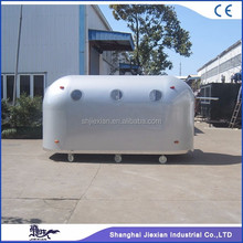 JX-BT400A big silver high class fiberglass box trailer