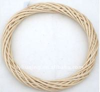 wholesale many size natural wicker/willow wreath, factory