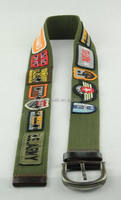 fashion fabric belt for men , different pictures western style belt YJ-1213