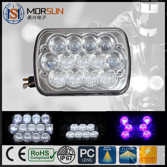 hot sale hi/lo beam led working lights 7 inch led headlight for Jeep Wrangler auto part