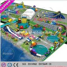 Interesting Mobile amusement park, Inflatable frame pool inflatable water park