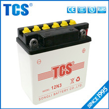 motorcycle dry charged battery 12v 3ah lead acid battery