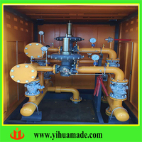 energy saving customized cng pressure regulator/reducing cabinet/ station/plant with flow meter