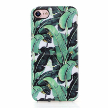Phone case for iphone 7 Plus, banana leaf design imd glossy/matte full/half protective soft case cover for iphone 5 6 7 8 plus