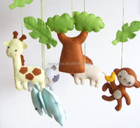 Natural Wool Felt Soft Plush Toys Of A Serial Story Like Jungle Animal