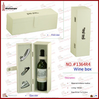 One bottle custom leather EVA wooden wine packaging holder