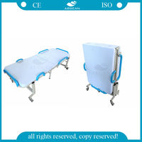 AG-FB001 Comfortable with wheels hospital furniture medical folding bed