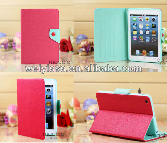 360 Rotating Cute Smart Leathe Cover Case Stand For ipad 2/3/4