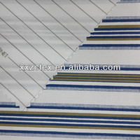 Cotton polyester plaid shirt fabric