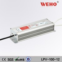 Quality assurance single output waterproof 12v dc input led driver 8.5a power supply 100 watt