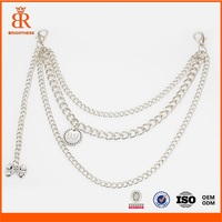 Customized Metal Handbag Chain Bag Silver Chain Belt Designs for Girls