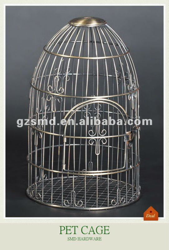 Antique garden decor metal bird cage