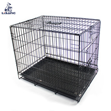 Black Poultry Farming Equipment Metal Large Steel Iron Dog Pet Cage