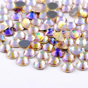 Best Quality Clear Crystal Hot Fix Rhinestone Super Bright Glass Strass  Hotfix Iron On Rhinestones For a3fecdf5603f