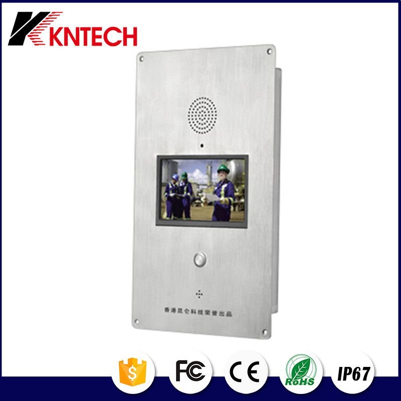 2016 KNTECH KNZD-60 multi apartments ip wireless video door phone with smart home gateway LCD screen elevator telephone