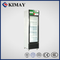 09KM10 ake commercial Glass double Door Cabinet-White refrigerator