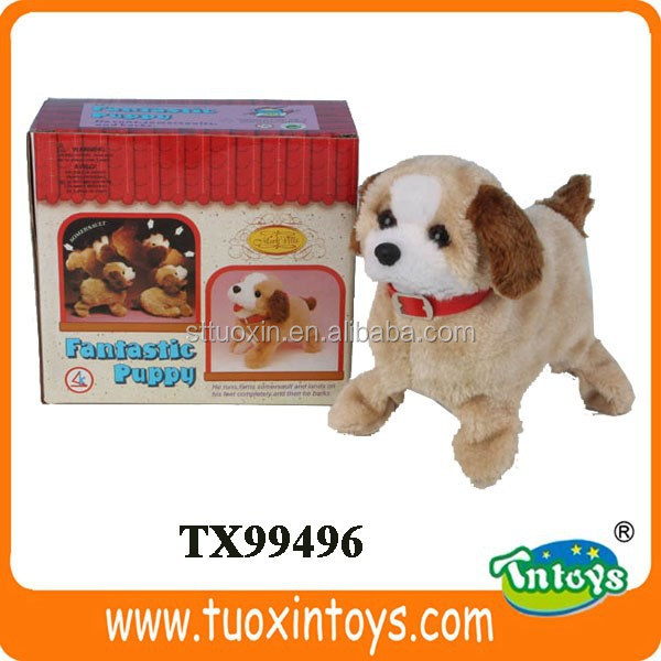 stuffed plush dog toy, electronic toy dog for kids